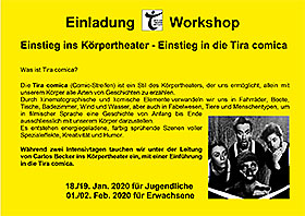 Einladung Workshop Körpertheater